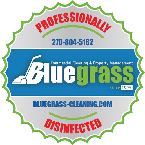 Bluegrass Commerical Cleaning Professionally Disinfected Seal